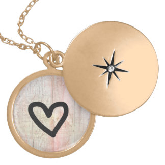 Tumblr Art Gold Finish Round Locket