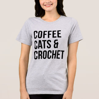 Tumblr T-Shirt Coffee Cats and Crochet