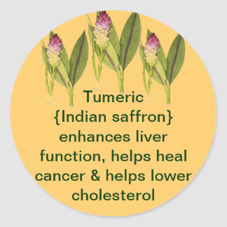 Tumeric sticker