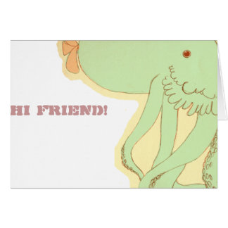 "Tummy Time: Peter, ""hi friend!"" card"