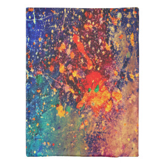 Tumultuous Bed | Colorful Bold Rainbow Splatter | Duvet Cover