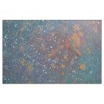 Tumultuous Muted Rainbow Nebula Splatter Worn Fade Fabric