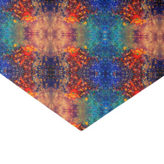 Tumultuous Party | Chic Rainbow Splatter Abstract Tissue Paper