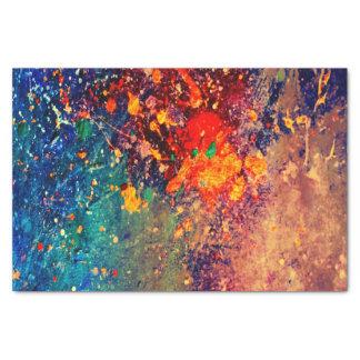 Tumultuous Party | Colorful Bold Rainbow Splatter Tissue Paper