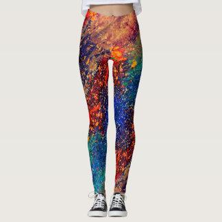 Tumultuous Style   Bold Original Rainbow Splatter Leggings