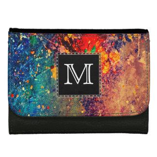 Tumultuous Style | Monogram Rainbow Splatter Wallets
