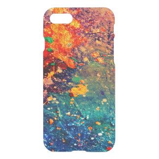Tumultuous Stylish Rainbow Splatter Abstract Chic iPhone 8/7 Case