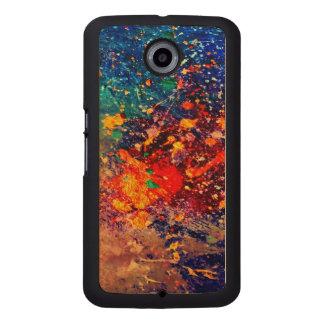 Tumultuous Tech | Bold Original Rainbow Splatter Wood Phone Case