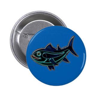 Tuna 2 Inch Round Button