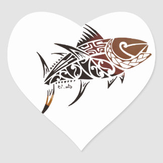 Tuna Heart Sticker