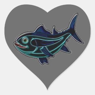 Tuna Heart Sticker
