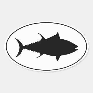 Tuna Icon Oval Sticker