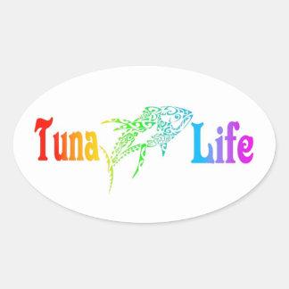 Tuna Life Oval Sticker
