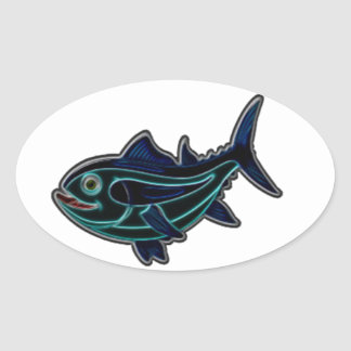 Tuna Oval Sticker