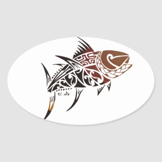 Tuna Oval Sticker
