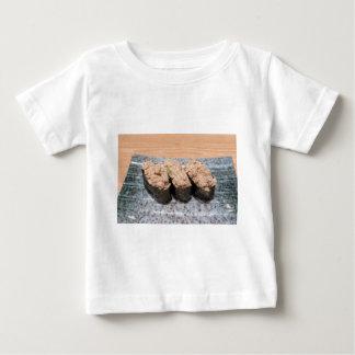 Tuna Salad Sushi trio on ceramic plate closeup Baby T-Shirt