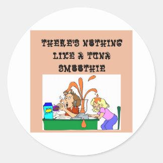tuna SMOOTHIE joke Classic Round Sticker