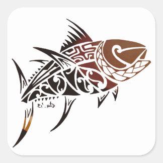 Tuna Square Sticker