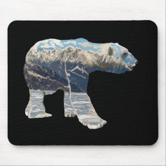 Tundra Polar Bear Mouse Pad