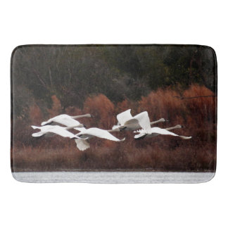 Tundra Swan Birds Wildlife Animals Bath Mat