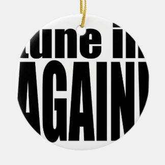 tune again music summer party night alone hangover round ceramic ornament