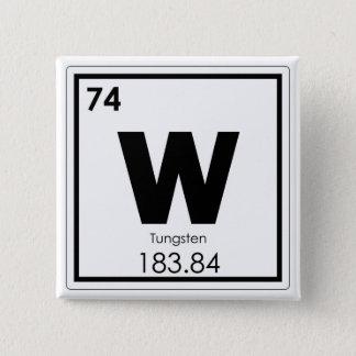 Tungsten chemical element symbol chemistry formula 2 inch square button