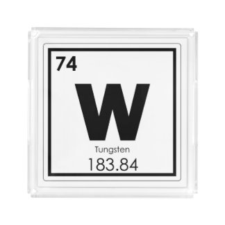Tungsten chemical element symbol chemistry formula acrylic tray