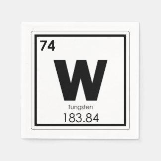 Tungsten chemical element symbol chemistry formula disposable napkins