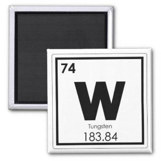 Tungsten chemical element symbol chemistry formula magnet