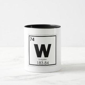 Tungsten chemical element symbol chemistry formula mug