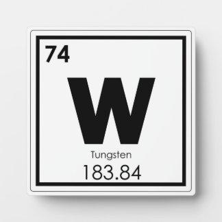 Tungsten chemical element symbol chemistry formula plaque