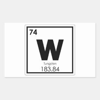Tungsten chemical element symbol chemistry formula sticker