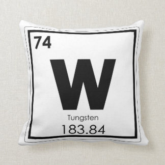 Tungsten chemical element symbol chemistry formula throw pillow