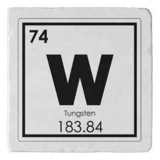 Tungsten chemical element symbol chemistry formula trivet