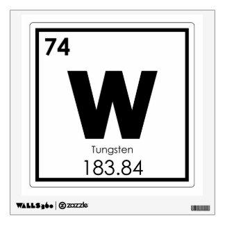 Tungsten chemical element symbol chemistry formula wall sticker