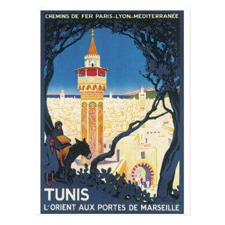 Tunis Vintage Travel Poster Postcard