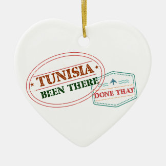 Tunisia Been There Done That Ceramic Heart Ornament