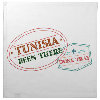 Tunisia Been There Done That Printed Napkin