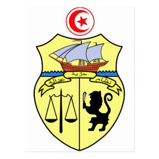 Tunisia coat of arms postcard