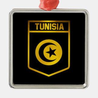 Tunisia Emblem Metal Ornament