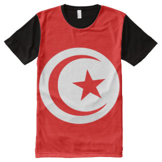 Tunisia flag All-Over-Print T-Shirt