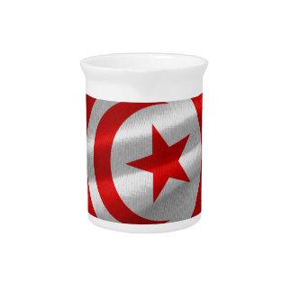 Tunisia Flag Beverage Pitcher