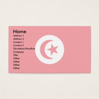 Tunisia Flag Business Card