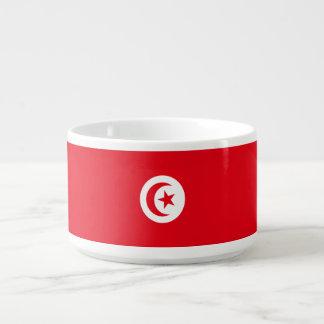 Tunisia Flag Chili Bowl