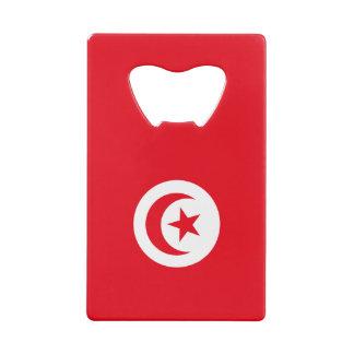 Tunisia Flag Credit Card Bottle Opener