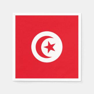 Tunisia Flag Disposable Napkins