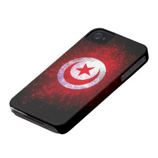 Tunisia Flag Firework iPhone 4 Case-Mate Cases