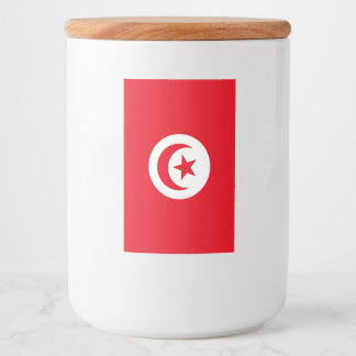 Tunisia Flag Food Label