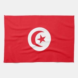Tunisia Flag Hand Towels