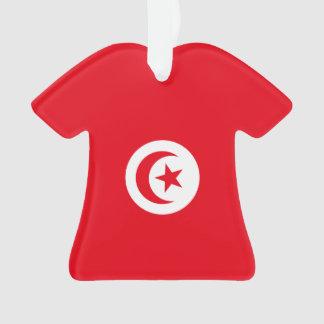 Tunisia Flag Ornament